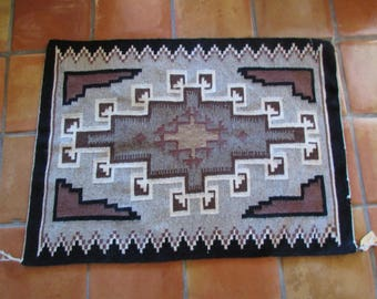 "Navajo Rug -Two Grey Hills c.1960's 30"" x 41"" , Very Good condition"