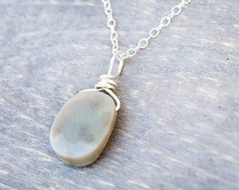 Genuine Opal Necklace - Natural Opal Necklace - Genuine Opal Jewelry - October Birthstone Necklace - Real Opal Pendant - October Birthday