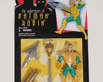 SEALED 1995 Ra's Al Ghul action figure from The Adventures of Batman and Robin! Kenner Factory Sealed On Card 1990s DC Comics Vintage Toys