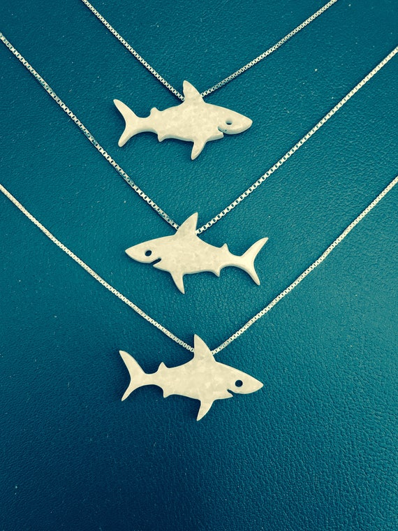 Opal Shark Necklace • 2018 World Premier • My Own Exclusive Original Design • So Go Ahead and Be Jawsome!