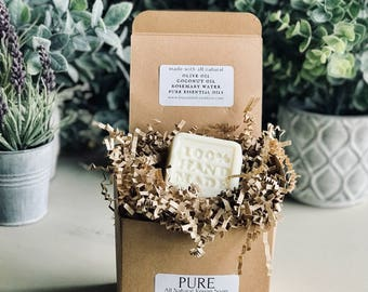 """Pure All Natural Vegan Soap """"100% Hand Made Square"""""""