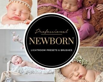 Lightroom Presets Newborn VOL.2 - Newborn Photography Clear Creamy Skin Tones - Professional Photo Editing for Portraits, Newborns, Weddings