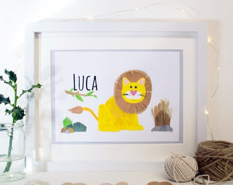Personalised name with animal character