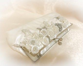 Bridal clutch, bridesmaid clutch, wedding clutch,lace clutch,wedding bag