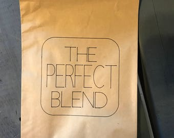 10 The Perfect Blend wedding favor bags - wedding favors - guest favors - coffee bags - coffee favors
