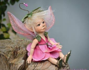 Fairy doll Gift For Girlfriend flower fairy tulip decor art doll fairy dolls fairy figurine porcelain doll handmade doll LIMITED EDITION