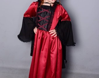 VAMPIRELLA DRESS for Girls VICTORIAN
