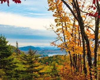 Land Photography, Art Photo, Adirondack Autumn Print, Fine Art Photography, Mountain Photograph, Autumn Landscape, Adirondack Autumn Photo