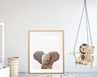 Safari Nursery Art, Elephant Print, Safari Animals Wall Art, Nursery Decor, Baby Elephant, Nursery Wall Art, Baby Room Prints, Printable Art