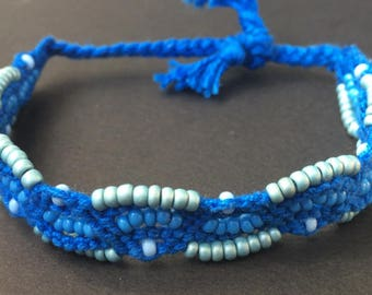 Blue Pearl Friendship Bracelet