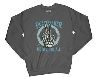 Skater sweatshirt peacemaker sweatshirt skull sweatshirt urban sweatshirt bones sweatshirt piece sweatshirt grunge sweatshirt  APV68