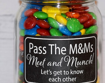 Set of 4  Meet and Munch labels  - Jw Games - Jw Pioneer Gifts - Jw Gifts for Pioneers - Jw Gifts Elders - Jw labels