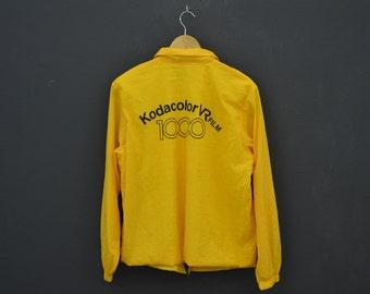 Kodak Windbreaker Women Size S/M 80s 90s Kodak Vintage Kodacolor VR Film Jacket Made in Japan
