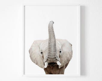 Nursery Print, Elephant Print, Nursery wall art, Nursery Animal Prints, Nursery decor, Animal print, Nursery animal prints