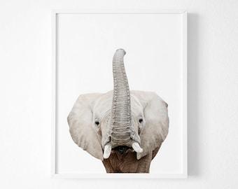 Nursery Print, Elephant Print, Nursery wall art, Nursery Animal Prints, Nursery decor, Animal print, Nursery animal prints