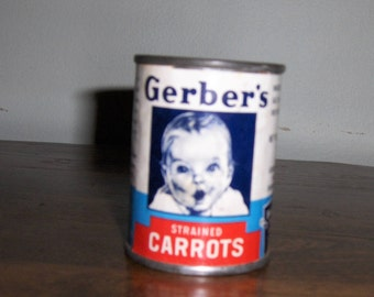Gerber's Strained Carrots Tin Can