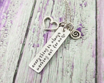 Positive Thinking - Positive Inspiration Quotes - Inspirational Necklace - Positive Jewelry - Recovery Jewelry - Confidence Gifts