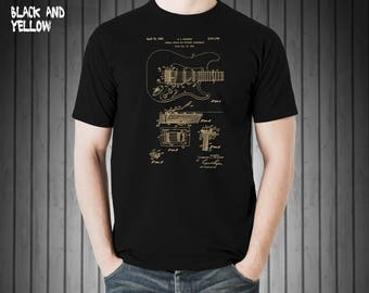 Fender Stratocaster Patent, Patent T Shirt,Fender Shirt, Fender patent Shirt,Fender Gifts,Musician T-shirt,Gift,Music #31