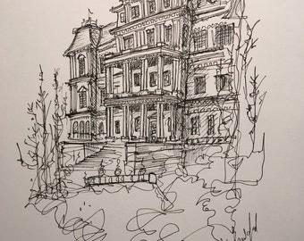 OEOB | Pen and Ink Drawing | Original Art