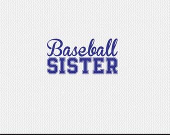 baseball sister svg dxf file instant download silhouette cameo cricut clip art