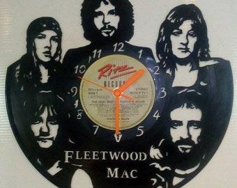 Fleetwood Mac Vinyl Record Clock