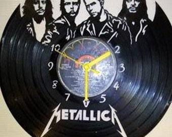 Metallica Vinyl Record Clock