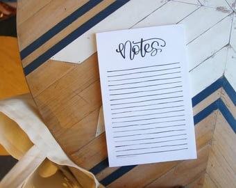Minimalist Notepad - Black and White Notes - Notepad Christmas Gift Idea