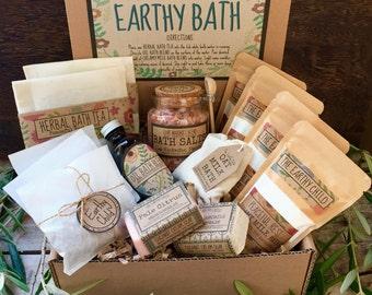 Deluxe Bath Spa Kit, Bath gift set,Herbal Bath Box, beauty Bath, Thank you gift, Getwell gift set, soaps, birthday gift, christmas gift,