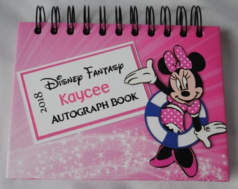 Disney Cruise Personalized Minne or Daisy Autograph and Photo Book