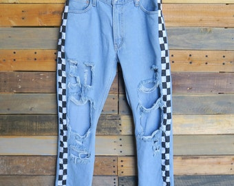 0472 - American Vintage - Street Styled - Checkered Pants