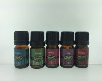 Blend Essential Oils: Immunity, Meditation, Aphrodisiac, Enery and Happiness