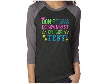 STAAR Test 3/4 Sleeve Baseball Shirt