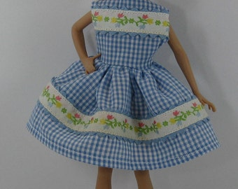 Barbie Skipper / Stacie Blue Gingham Dress