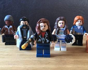 Wynonna Earp custom minifigs. Waverly Earp, Nicole Haught, Dolls, Doc, Calamity Jane. Custom made, made to order.