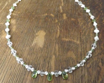 Peridot and Citrine Necklace