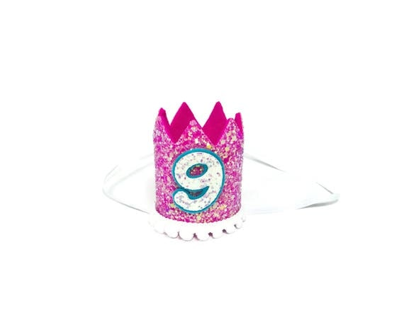 9th Birthday Crown || Any Age || Dog Birthday Hat || Pet Party || Birthday Crown
