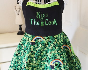 Kiss The Cook - St. Patrick's Day Apron