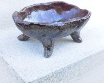 Raku Ceramic Bowl,  one of a kind, OOAK