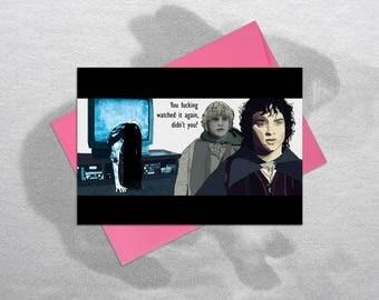 Lord of the Rings Birthday Card, Funny Birthday Card, Rude Birthday Card, Lord of the Rings, Inappropriate Birthday Cards, Frodo & Sam