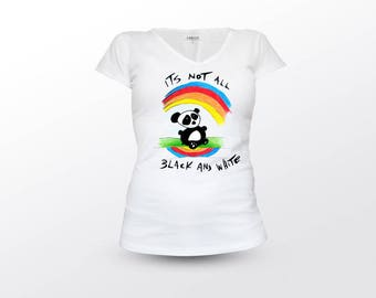 Panda T Shirt, Panda Quotes, Animal T Shirt, Woman T Shirt, Cute Panda Shirt, Sassy Panda Shirt, Its Not All Black And White, Panda Tee