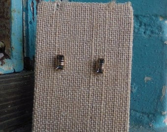 Black wired studs | Gold wired studs | Wired earrings