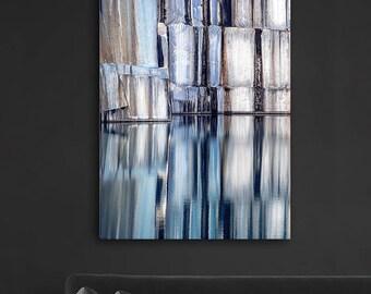 Printable Blue Art, Download Art, Digital Painting, Abstract Prints, Home Decor, Living Room Art, Blue Prints, Nature Prints, Water Prints