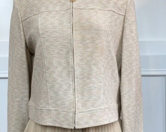 St. John Collection by Marie Gray Taupe Knit Jacket--Size US 10  (10632CL)