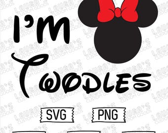 Minnie Mouse Two svg - Minnie Mouse svg - Oh Twodles Sis svg - Oh Toodles - Two year old Minnie Mouse
