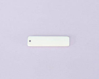 """1.2"""" by .3"""" Small Rectangle with One Hole - Aluminum Stamping Blanks - Metal Stamping Blanks - 14g - #266"""