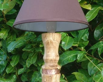 Oak Lamp, Table Lamp, Wood Turned Lamp, Wooden Side Lamp, Side Lamp, Wood Desk Lamp, Desk Lamp, Wood Table Lamp, New Forest Lamp, Unique