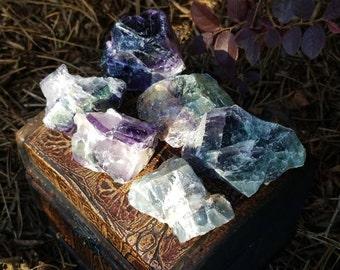 Rainbow Fluorite Chunk - Small, Medium, or Large Chunk