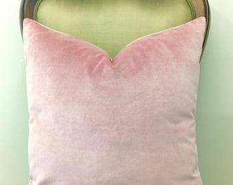 Luxury Light Pink Cotton Velvet Pillow Cover, Pink Pillows, Throw Pillows, Decorative Pillows, Velvet Cushions, Pink Velvet Pillow Covers