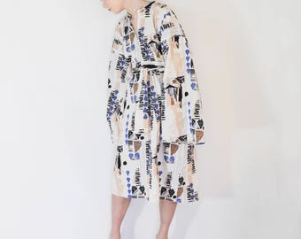 organic dress, artist smock dress, oversized dress, loose dress, plus size dress, plus size tunic, tunic dress, tunic coverup, caftan dress