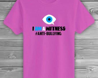 ANTI-BULLYING   Support for Bullying, Anti-Bullying, #Say No to Bullies, No Bully Zone, Pink Shirt Day, Anti-Bullying Movement